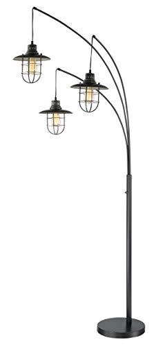 Lite Source Lanterna II Dark Bronze 3-Light Arc Floor - Lamp Arc Arm Floor