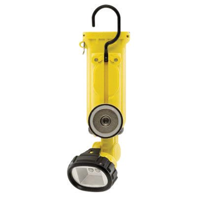 Streamlight® Yellow Knucklehead® Rechargeable Work Light With Charger/Holder And 120V AC/DC Cords (4 4.8 Volt Nickel-Cadmium Sub-C Batteries Included)