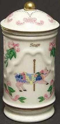 Lenox Porcelain Carousel Spice Jar - Sage, used for sale  Delivered anywhere in USA
