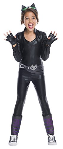Catwoman Different Costumes (Rubie's Costume Girls DC Superhero Deluxe Cat Costume, Large, Multicolor)