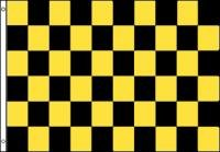 Yellow Checkered Flag - NEOPlex 3' x 5' Checkered Black & Yellow Flag
