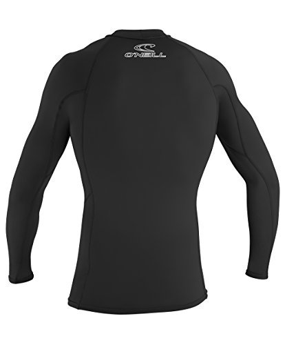 O'Neill Wetsuits UV Sun Protection Mens Basic Skins Long Sleeve Crew Sun Shirt Rash Guard, Black, Large (3 Pack) by O'Neill (Image #3)