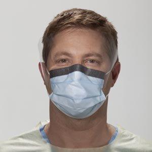 Kimberly Clark Fluidshield Level 3 Fog-Free Procedure Mask w/Wrap Around Visor - Blue - 100 per Case