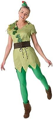 Rubies - Disfraz Oficial Chicas de Peter Pan para Adultos, Talla Grande.