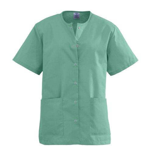 Medline AngelStat Ladies Jewel Neck Snap Front Scrub Tops, 851ntjl, 1 Pound