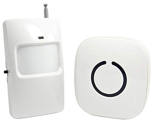 SadoTech Wireless PIR Motion Sensor Doorbell Operating at over 500-feet Range with Over 50 Chimes, No Batteries Required for Receiver, (White), Fixed Code C Series. by SadoTech