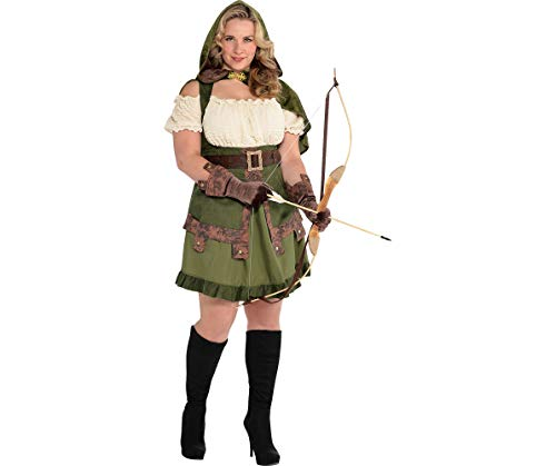 AMSCAN Lady Robin Hood Halloween Costume for Women, Plus Size, with Included Accessories