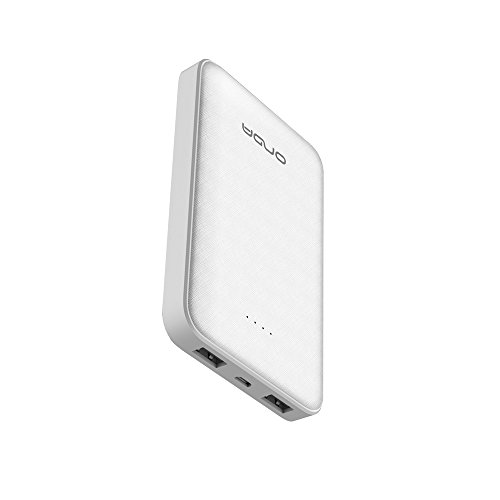 ONDA 10000mAh block-Sized Ultra Compact Portable Charger (External Battery Power Bank) with High-Speed Charging PowerIQ Technology Q100T (White)