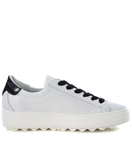 and PHILIPPE White MODEL Sneaker White Woman's Leather Black Madeleine xIxS6qwFa