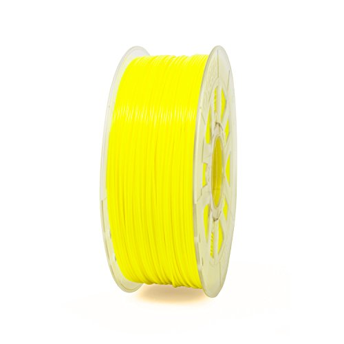 Discount Gizmo Dorks 3mm (2.85mm) ABS Filament 1kg / 2.2lb for 3D Printers, Fluorescent Yellow (UV Light)