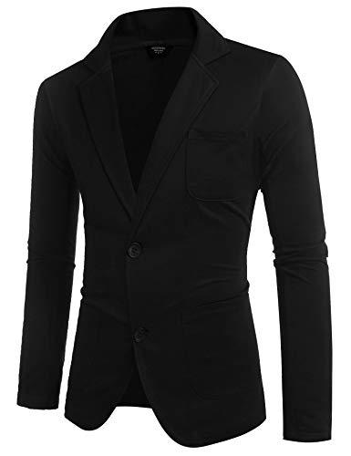 COOFANDY Mens Casual Two Button Suits Lapel Blazer Jacket Lightweight Slim Fit Sport Coat