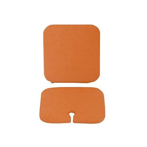 50%OFF Nuun Kids Design–2coussins rectangulaires Nuun Kids pour chaise osit et chaise haute oueat Orange