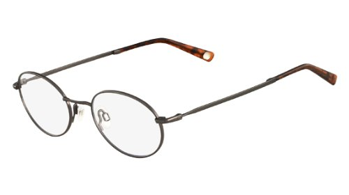 FLEXON INFLUENCE Eyeglasses 033 Dark Gunmetal 48-19-140: Amazon.co ...