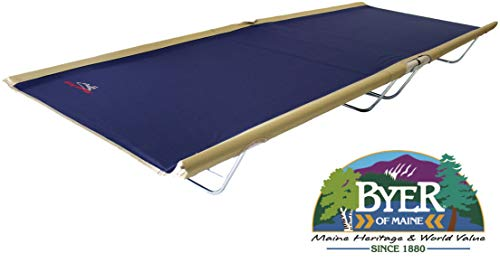 BYER OF MAINE, Allagash Plus, Cot, Extra Wide, 76'L X 30'W X 8'H, Lightweight Cot, Camping Cots Adult, Holds up to 250lbs, Single, Portable Camping Cot
