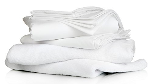 AMERICA EMPORIUM 100% Premium HOTEL LIKE Quality EGYPTIAN Cotton MADE IN USA Sheet Set 800 TC Fits Up to 15 Inches Deep Pocket Solid (King, White)