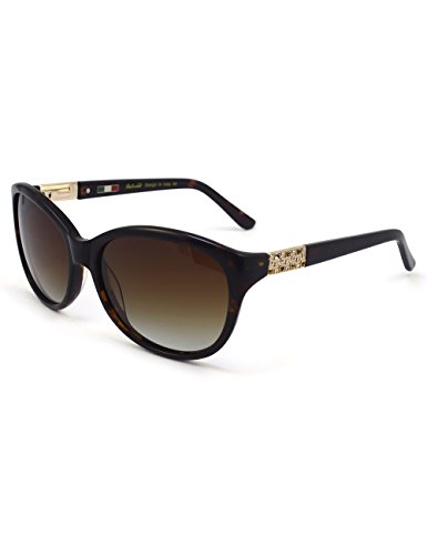 Lady Acetate Shiny Rhinestone Cat-Eye Butterfly Polarized Sunglass 6601R Demi 100% UV (Fifties Cat Eye Rhinestone Glasses)