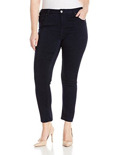 Celebrity Pink Jeans Women's Plus Size Super Soft Mid Rise Skinny Jeans, Indigo Rinse, 18W