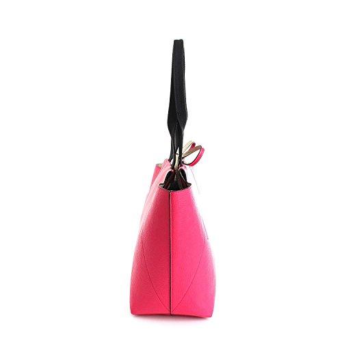 Calvin Klein - Bolso al hombro para mujer fucsia