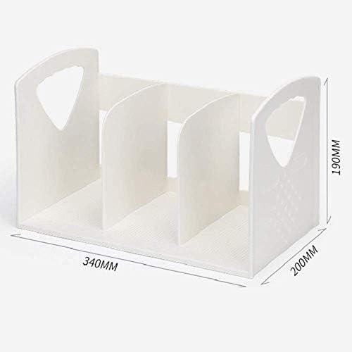 AGWa Zeitungsständer, Schreibtisch-Dateiorganisator, Multifunktions-Büro-Aktenregal Mehrschichtiges vertikales Bücherständer-Gestell Kunststoff-Lagerregal Akten-Aufbewahrungsbox Buch