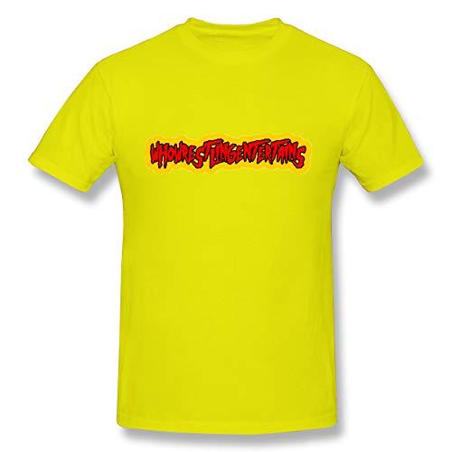 HZZWAN Men Who Wrestling Entertains Hulkamania Mature T Shirt L Yellow