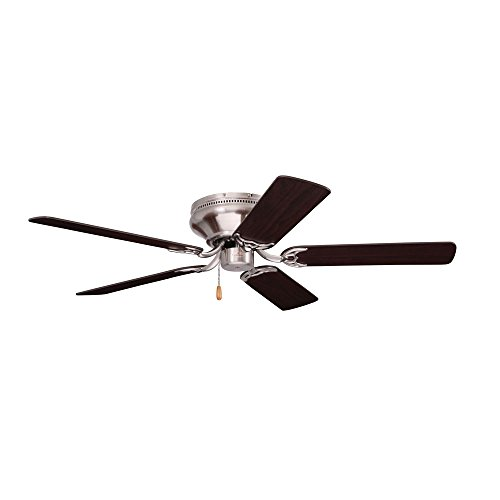 Emerson Ceiling Fans CF805SBS Snugger 52 Inch Low Profile Ceiling Fan  (Hugger Ceiling Fan), Light Kit Adaptable, Brushed Steel Finish
