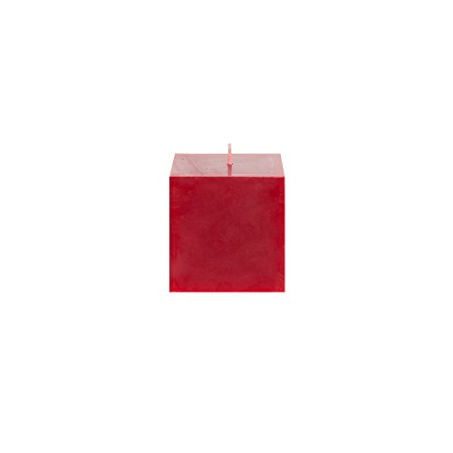 Pillar Square Wedding (Mega Candles Unscented Red Square Pillar Candle | Hand Poured Premium Wax Candles 3