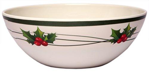 Melange 6-Piece 100% Melamine Bowl Set (Christmas Berry Collection )   Shatter-Proof and Chip-Resistant Melamine Bowls (Christmas Bowl)