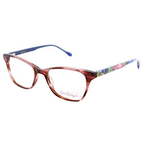 Lilly Pulitzer Sydney AM Amber Plastic Rectangle Eyeglasses - Prescription Glasses Sydney