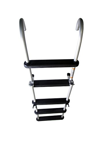 Pactrade Marine Pontoon Boat Removable Folding Ladder 5 Step Anodized Aluminum Tubing 300lbs