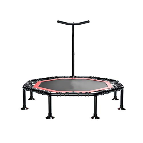 DUXX - 50-inch Sports Fitness Trampoline, Family Yoga Leisure Trampoline Children's Indoor Bounce Bed with Handrails (Load: 200 Kg) Indoor Fitness ()