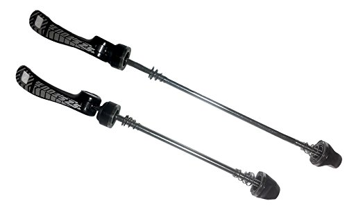 "Mailesi MTB Bike Quick Release Aluminum Alloy, 1 Pair Ultralight Road Mountain Bike Bicycle Wheel Hub Front and Rear Axle Skewers 5.7""/7.68"", Black"