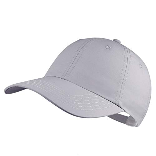 Quivk Dry Dad hat Summer Polo Baseball Cap Mens Outdoor Running Run Sports Sport Hats Cool UV Sun Caps Light Breathable Travel Golf Unstructured Trucker Hat for Men Women Girls Unisex Plain Gifts Gray