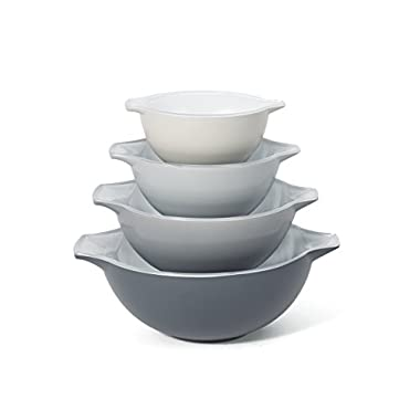 Creo 4-Piece SmartGlass Nesting Bowls, Brooklyn Grey
