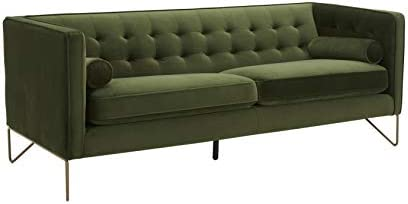 Amazon Brand Rivet Brooke Contemporary Mid-Century Modern Tufted Velvet Sofa Couch