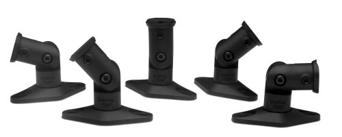 Vantage Point SATS05B Satellite Speaker Mounts for Home Theater Systems - Black (5-Pack) by Vantage Point