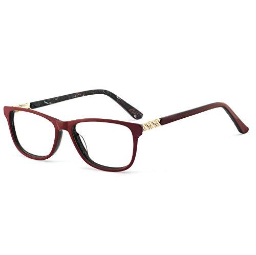 (OCCI CHIARI Fashion Clear Lens Glasses Frame Non Prescription Eyeglasses Oversized Eyewear For Women Girls(Red) )