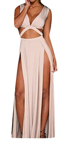 Swing Solid Dress Womens Cut Slit Out Sleeveless V Neck Cruiize Pleated White T8avIOT