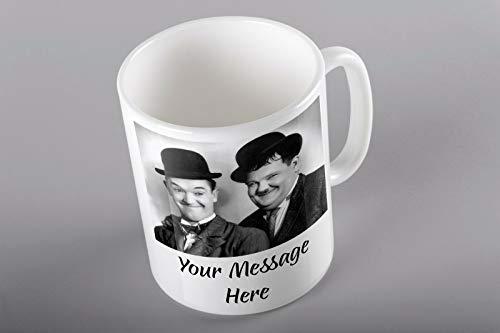 LAUREL AND HARDY CUSTOM CUP MUG TEA COFFEE BIRTHDAY GIFT TEXT DAD GRANDAD (Hardy Mugs)