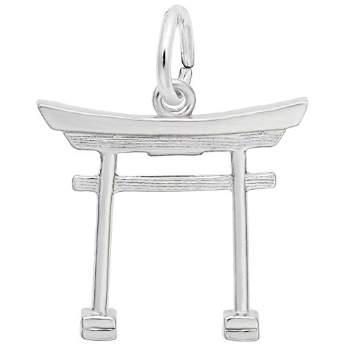 Rembrandt Charms Japanese Tori Gate Charm, Sterling Silver