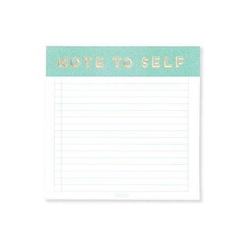 DesignWorks Ink Square Square Note Pad, Spearmint- Note To Self