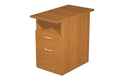 Kommode complanare am Schreibtisch mit einer Schublade und einer Schublade Ordnungsmappe, feste Kommode mit Schloss, Kommode Finish Buche