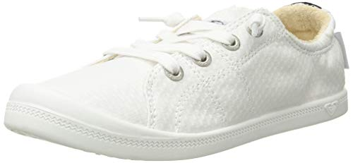 Roxy Women's Bayshore Slip on Shoe Sneaker, White, 5