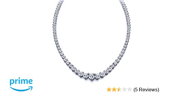 fc34d94645ae3 12.00 ct. TW Graduated Round Cut Diamond Tennis Necklace