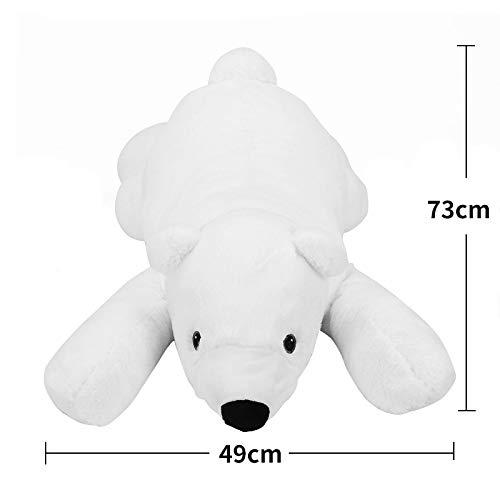 JEWH Newborn Baby Pillow Polar Bear - Stuffed Plush Animals - Kawaii Plush Baby Soft Toy - Kids Toys for Children's Room Decoration Doll from JEWH