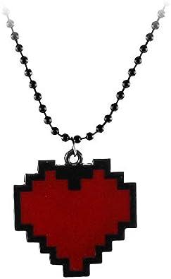 Dtkj Anime Pixels Coeur Collier Undertale Cosplay De Frisk