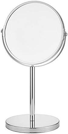 自立化粧鏡3倍に拡大し、6/7/8インチのメイクアップミラーペデスタルテーブルミラーバスルームベッドルームのために、シェービング用ミラー化粧バニティミラーダブルChromeを両面 (Size : 8 inch)
