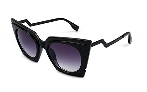 Women's Paris Oversized Sunglasses- Black - 8