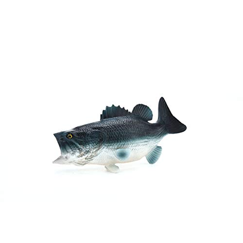Meiyiu Sea Animals Figure Toys,Kids Realistic Underwater Sea Animals Figure Modeling Collection Toy Home Decoration S484 Dark BigMouth Bass