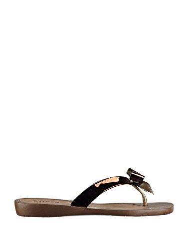 Guess Women's Tutu2 Sandal, bronze, 8 Medium US
