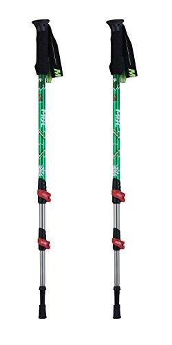 Aluminium Walking Pole - HealthPro MBC-M361Q Professional Weather-Resistant Duralumin Aluminum Trekking Pole Walking Stick (Pair)